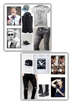"""Oorn [ Niall & Harry ]"" by believe-in-you-always ❤ liked on Polyvore featuring castro, Kill Brand, Sik Silk, Base London, Vans, men's fashion and menswear"