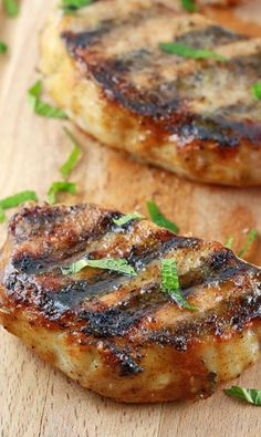 Grilled Pork Chops with Honey Mustard Glaze