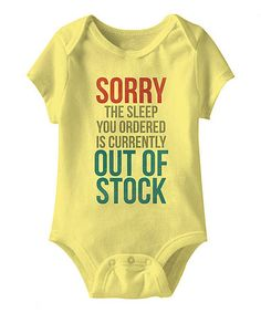 Love this Banana 'Out of Stock' Bodysuit - Infant on #zulily! #zulilyfinds
