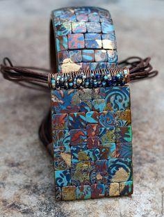 Купить кулон из полимерной глины уютный этника 11 - разноцветный, кулон, круный кулон, волшебство
