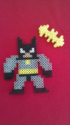 Batman Perler Bead Fridge Magnet  by GothamCityComics