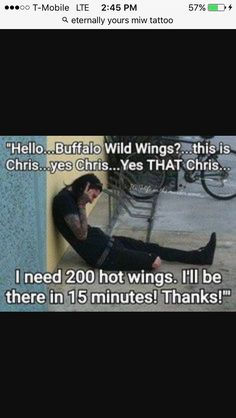Chris motionless and his wild wings