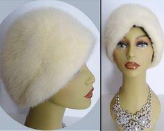 Vintage Mink Hat//White Mink//Plush//Mink by VintageDiva60 on Etsy