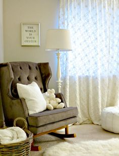 Project Nursery - Jason and Molly Mesnick's Nursery #glider #nursery