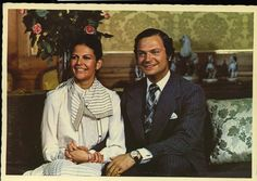 King Carl XVI Gustaf of Sweden and Silvia Renate Sommerlath  Married: 19 June 1976 in Stockholm Cathedral