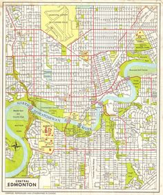 Edmonton map print customizable city map minimalist edmonton oklahoma city map print full color map poster gumiabroncs Choice Image