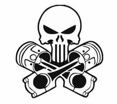 Check out this item in my Etsy shop https://www.etsy.com/listing/242779153/skull-and-pistons-decal-for-car-and-home