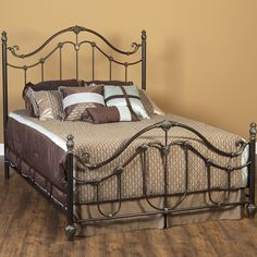 Helena Iron Bed in Antiqued Gold by Largo Furniture Bedroom Furniture, Furniture Sets, Furniture Design, Largo Furniture, Online Furniture Stores, Beds Online, Metal Beds, Colorful Furniture, Humble Abode