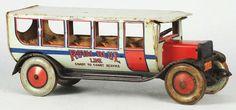 Tin Litho Chein Coast to Coast Bus Toy.