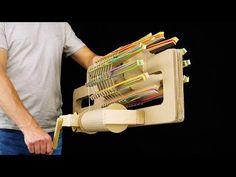 How to Build Amazing Rubber Band Machine Gun In this video I show how to build amazing rubber band machine gun from cardboard! Materials you need: cardboard,. Cool Paper Crafts, Paper Crafts Origami, Fun Crafts, Rubber Band Gun, Making Wooden Toys, Learn Woodworking, Cardboard Crafts, Diy Toys, Diy Videos