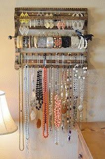 nice jewellery organiser diy-crafts
