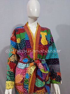 Cotton Kimono, Work Jackets, Cut Work, Comfy Dresses, Kimono Jacket, Sleepwear Women, Palazzo Pants, Quilted Jacket, Tank Dress