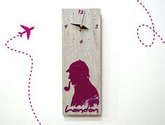 For the Sherlockians | 17 Gorgeous Wall Clocks For All Your Fandom Needs: