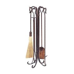 UniFlame Antique Brushed Copper Finish Fireplace Tool Set with Shephard's Crook - The Home Depot Marble Fireplace Surround, Build A Fireplace, Fireplace Tool Set, Fireplace Hearth, Home Fireplace, Fireplaces, Fireplace Screens, Home Depot, Ios