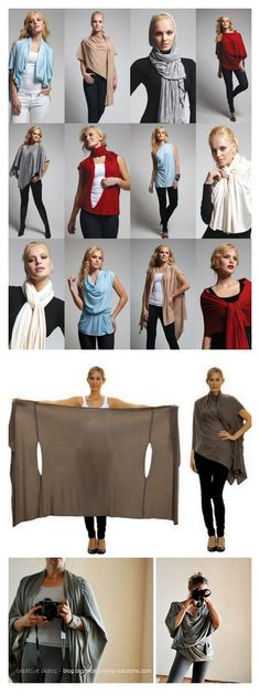 Convertible clothing- Perfect for the suitcase Diy Clothing, Sewing Clothes, Clothing Patterns, Convertible Clothing, Diy Couture, Diy Fashion, Fashion Tips, Sewing Hacks, Dress Making