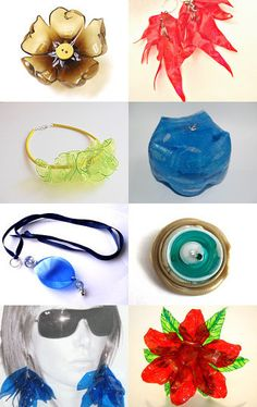 """Recycled Upcycled Plastic Bottle"" - Pinned with TreasuryPin.com Plastic Bottle Flowers, Plastic Bottle Crafts, Plastic Jewelry, Recycle Plastic Bottles, Diy Projects To Try, Crafts To Make, Craft Projects, Diy Crafts, Recycled Bottles"