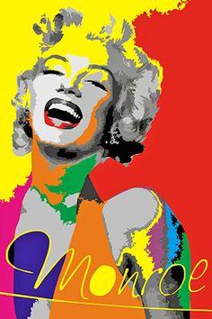 Marilyn Monroe Pop Art, Marilyn Monroe Quotes, Pop Art Marilyn, Andy Warhol Art, Frida Art, Classic Movie Stars, Arte Pop, Norma Jeane, Belle Photo