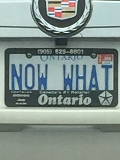 now what? Vanity License Plates, Now What, Cool Stuff, Cool Things