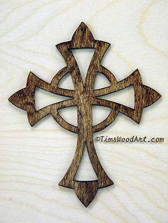 Celtic Cross, Handmade Wood Cross, for Wall Hanging or Ornament, Item S1-4