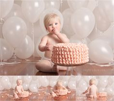 Cake smash Leah Robinson photography Melbourne photographer.