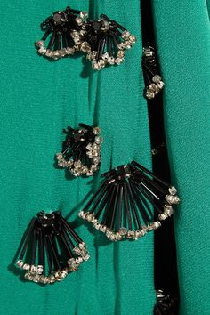 VionnetEmbellished woven silk dress
