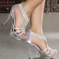 Beautiful Silver Heels | Tsaa Heel
