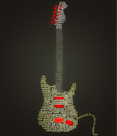 Guitar Typography by kodereaper Provoke Your Graphic Design Inspiration In Typography And Text Art Cool Typography, Typography Poster, Blackwork, Typographie Inspiration, Graphic Design Inspiration, Work Inspiration, Word Art, Web Design, Photos