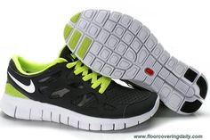 reputable site 9b870 f6212 Cheap Discount Mens Nike Free Run 2 Black Green White Shoes Shoes Store