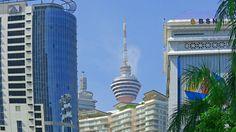 4K Malaysia Kuala Lumpur Menara KL Tower 2015 - elevator to observation ...