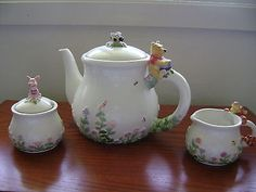 Winnie THE Pooh TEA SET With Creamer AND Sugar | eBay