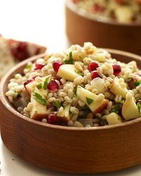 Thyme Scented Pearled Barley Salad with Apples, Pomegranate Seeds and Pine Nuts Recipe on Food & Wine Pine Nut Recipes, Wine Recipes, Salad Recipes, Cooking Recipes, Barley Recipes, Apple Recipes, Lunch Recipes, Dishes Recipes, Cooking Ideas