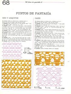 Album Archive - Mil ideas a ganchillo Crochet Diagram, Crochet Motif, Crochet Stitches, Crochet Patterns, Red Y, Free Graphics, Hand Stitching, Periodic Table, Mehndi