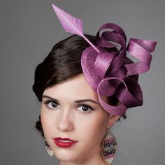 Mauve and Burgundy Sinamay Fascinator with Arrowhead by millistarr, $125.00