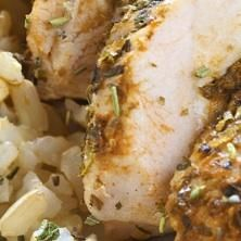 Use What You Have: Pesto Stuffed Mustard Chicken
