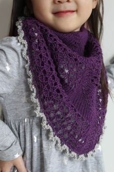 The Princess Shawl is a child sized shawl, but can also be worn as a shawlette for adults.