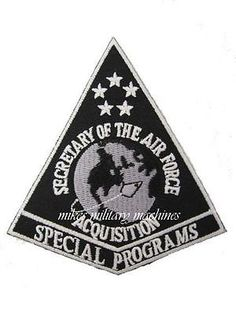 USAF Air Force Area 51 Military Black Ops Directorate Of Special Projects Patch