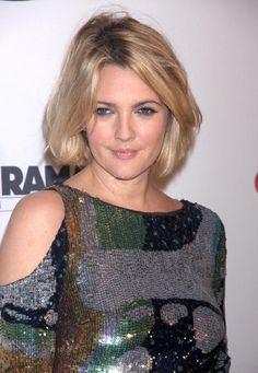 Drew Barrymore Hair. same haircut. hmmm pretty short. Nice color though