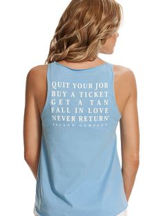 Azul Goldfish Kiss X Island Company collaboration with blogger Rebekah Steen of Goldfish Kiss and featuring our famous Quit Your Job mantra!