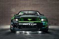 2014 Ford Mustang RTR Monster Energy Nitto Tire by Vaughn Gittin 2014 Ford Mustang, New Mustang, Mustang Cars, Mustang Drift, Maserati, Bugatti, Lamborghini, Ferrari, Monster Energy