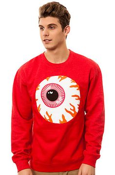 The Keep Watch Crewneck in Watermelon Heather by Mishka