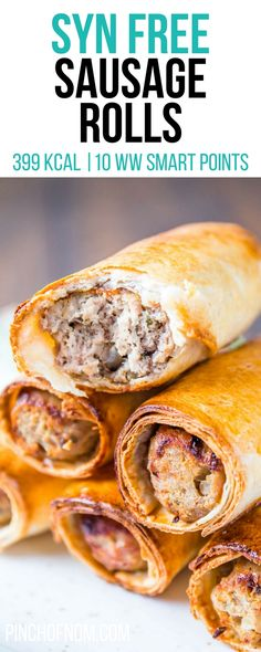 Syn Free Sausage Rolls | Pinch Of Nom Slimming World Recipes 399 kcal | Syn Free | 10 Weight Watchers Smart Points