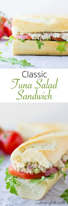 Everyone needs a Classic Tuna Salad recipe in his or her pocket. This fast and easy tuna salad sandwich is perfect for lunch and also makes a delicious grilled tuna melt!