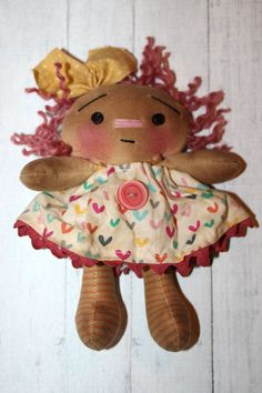 Valentine's Day Ornament Sized Annie  by HeartstringAnnie on Etsy