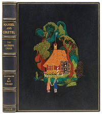 Hansel and Gretel and Other Stories, by The Brothers Grimm.. New York, George H. Doran Company,, [1925]. Illustrated by K. Nielson. Finely bound by The Chelsea Bindery in full dark blue morocco, titles and decoration to spine gilt, pictorial multi-coloured onlay of The Gingerbread House to the front board, inner dentelles, original endpapers, gilt edges. With 12 colour and 12 black and white illustrations. A fine copy.  Listed by Peter Harrington.  #chelseabindery #finebinding
