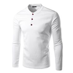 >> Click to Buy << New Men Tee Shirt Homme 2016 Fashion Button V Neck Long Sleeve T shirt Casual Solid Color Henley Shirt Cotton T shirt 14QT15 #Affiliate