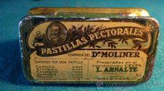 DR. MOLINER - PASTILLAS PECTORALES - VALENCIA - CAJA LATA FARMACIA - 1920´S -