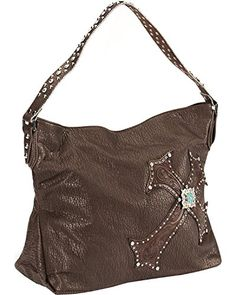 e27a6033f201 Blazin Roxx Womens Cross Overlay Hobo Handbag Brown One Size  gt  gt  gt