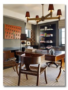 Masculine home office.