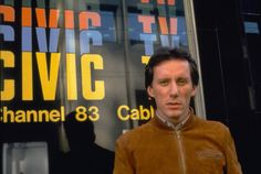 Max Renn at Civic TV in David Cronenberg's Videodrome