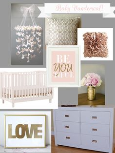Girl nursery, gold? I like!